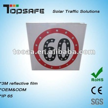 LED Solar Sign Lamp for Car Speed Limit