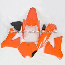 KTM 250 orange dirt bike parts plastic body kits motorcycle fairing