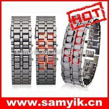 609# light metal LED alloy watch