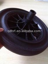 300mm plastic core solid rubber wheel for rubbish bin
