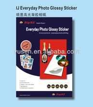 SGS Audited Factory Sell Directly 135g A4 Glossy Inkjet Self-adhesive Photo Paper