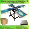 4 color manual silk screen printer with heavy duty caster