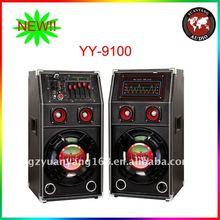 Super fashionable speaker with lights, laser lights, 10 inch subwoofer with USB, SD, FM, RC
