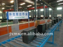 WEEE Scrap CRT cutting machine Electronics Heating monitor dismantling for sale