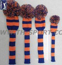 custom golf club cover knitted plush