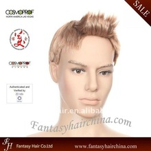 Popular style natural looking fashion Synthetic Men Hair Wig