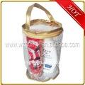 PVC saplı fermuarlı çanta