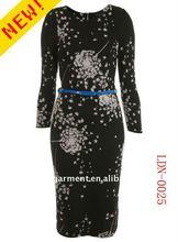 2012 NEWEST lady dress cotton design