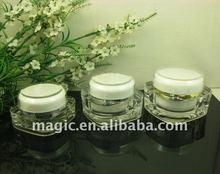 clear luxury cosmetic jars,cosmetic cream container,empty cream jar