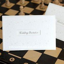 High quality white wedding invitation card customized printing