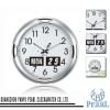 100% Auto Flip Calendar Wall Clock with Sweep Second Flip Clock #JK