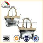 2014 Fashion and Elegant stripe canvas Beach Tote Bag