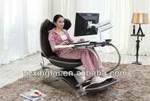 DEMNI Modern Ergonomic stainless steel computer desk