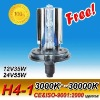 CE Approved 18Months Warranty hid xenon light kit h4-1 6000k