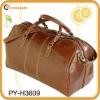 men's travel genuine leather duffel bag