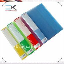 Colored Plastic PP hard cover folding file folder