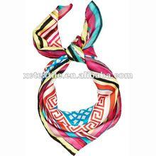 high quality digital printed floral silk scarf