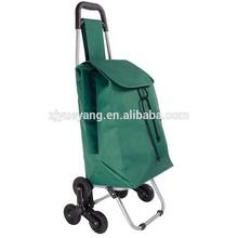 YY-33X04 climb stairs folding shopping cart 3 wheel cart stair climbing trolley