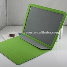 Hotselling Iron absorption smart cover in pure color for Ipad2/3 2012