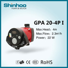 20-4P GPA Shinhoo High Efficiency Heating Solar System Water Pump