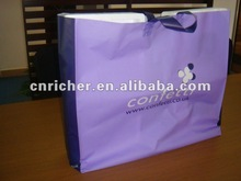 HDPE fascinating purple loop handle shopping plastic bags for clothes/suit