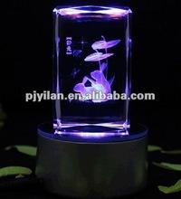 Elegante cristal láser 3d recuerdo, Cristal del laser de recuerdos