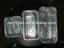 food packing container aluminium/tin foil disposable square/rectangular box for biscuit/cake/cookies