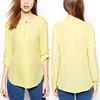2013 feminine blouses for uniform/office uniform designs 2013