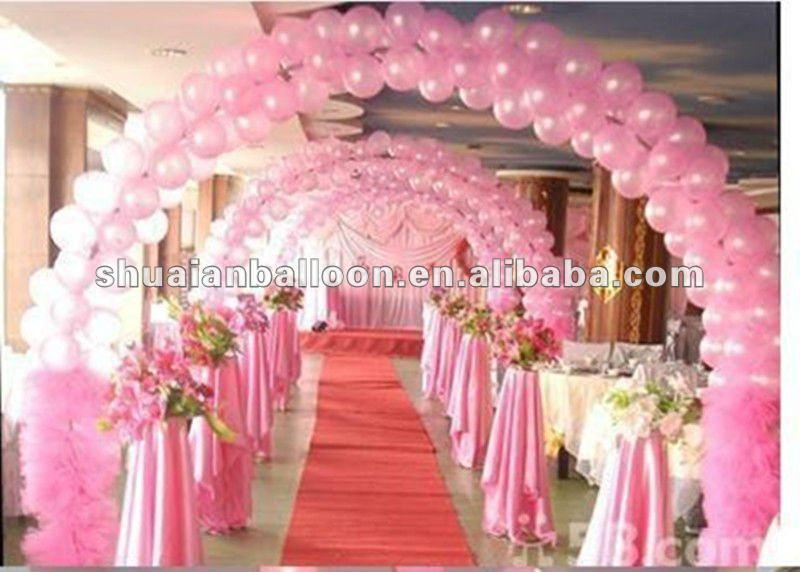 Belle couleur latex ronde ballon pour la décoration de mariage ...