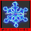 2d blue color and white color led big snowfake lights