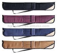 Custom Zipper Closed Good Quality 2 Pieces Pool Cue Case