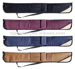 Custom Zipper Closed Good Quality 2 Pieces Pool Cue Case