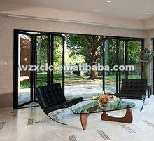 patio aluminum folding door,patio door,bifold door,folding sliding door,sliding folding door 2012 new style(Guangzhou)