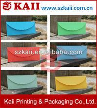 business envelope color custom size and design paper envelope