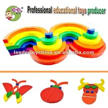 Wooden Educational Toys Rainbow Building Blocks
