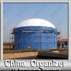 dual membrane gas cover for biogas project