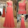 FE038 Hot sale real sample charming tulle beading embellishment belt evening dresses