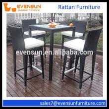 2015 new designer wicker rattan furniture outdoor tiki bar sets