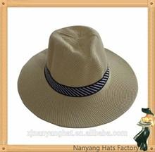 Hot Sale Customed New Design Men Cheap Paper Fedora Straw Hat