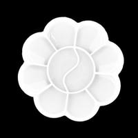 Cheap White Color flower Nail Art Acrylic Plastic Mixing Paint color Palette 3208