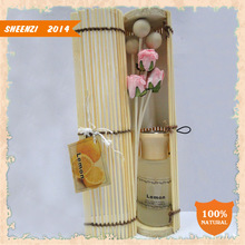 Lavender fragrance reed diffuser with rattan sticks/Lavender home fragrance aroma reed diffuser