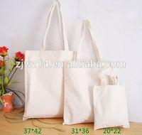 2015 cheap fashion plain white cotton canvas tote bag