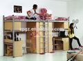 الصين الجملة 2015 غرفة نوم الاطفال مجموعات خشبية صغيرة مزدوجة سرير مرتفع للأطفال