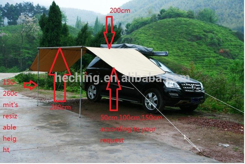 4x4 araba üst tarafı yağmur tente