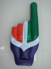 National flag printed inflatable index figure hand toy for kids