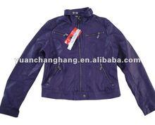 Women's PU Leather Jacket Garment Washed Fashion Design