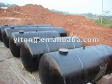 Horizontal oil tank and LPG vessel