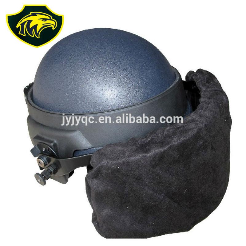 Military Kevlar Material Nij Iiia Bulletproof Helmet With Visor ...