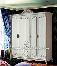 antique solid wood 5 door wardrobe