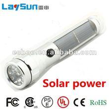 led solar flashlight aluminum alloy yellow solar flashing warning light pass CE ROHS UL test ningbo factory